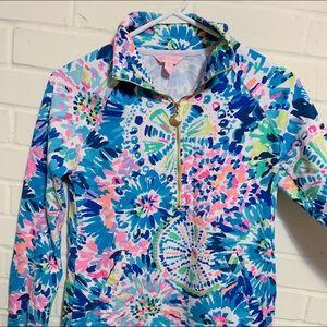 Lilly Pulitzer zip sweatshirt